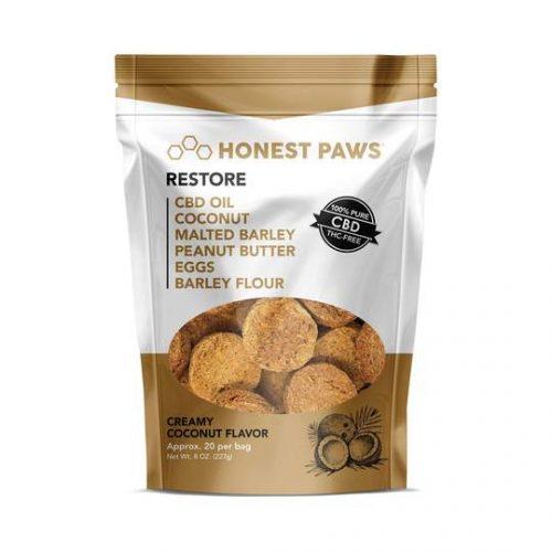 Honest Pets - Restore Strain Creamy Coconut Flavored CBD Dog Treats