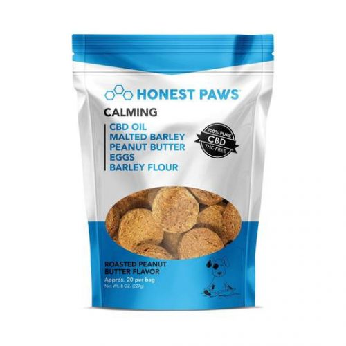 Honest Paws – Calm Roasted Peanut Butter Flavored CBD Dog Treats