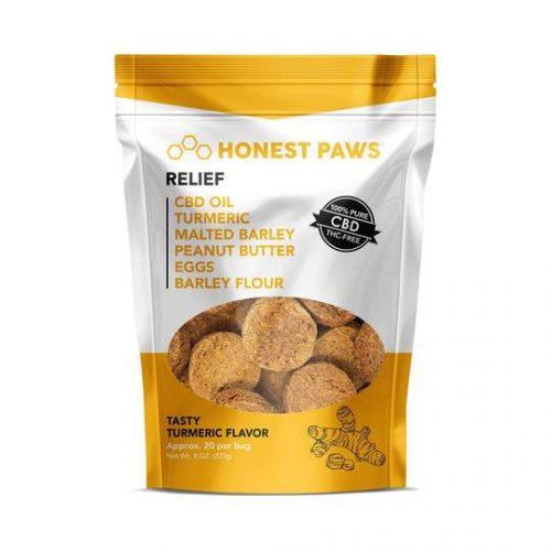 Honest Paws – Relief Tasty Turmeric Flavored CBD Dog Treats